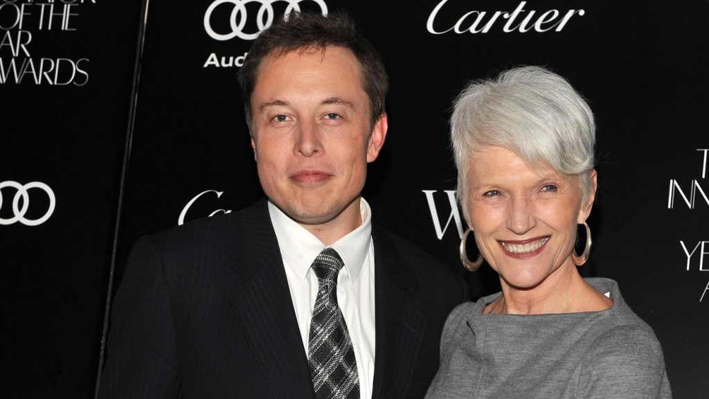 Elon Musk and his Mother