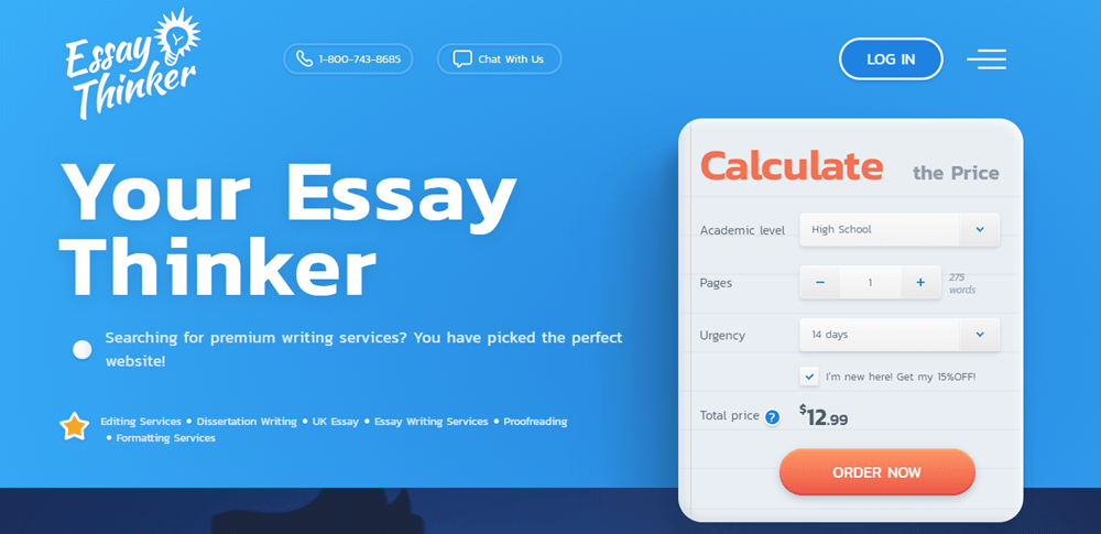 Essay Thinker the best essay writing service