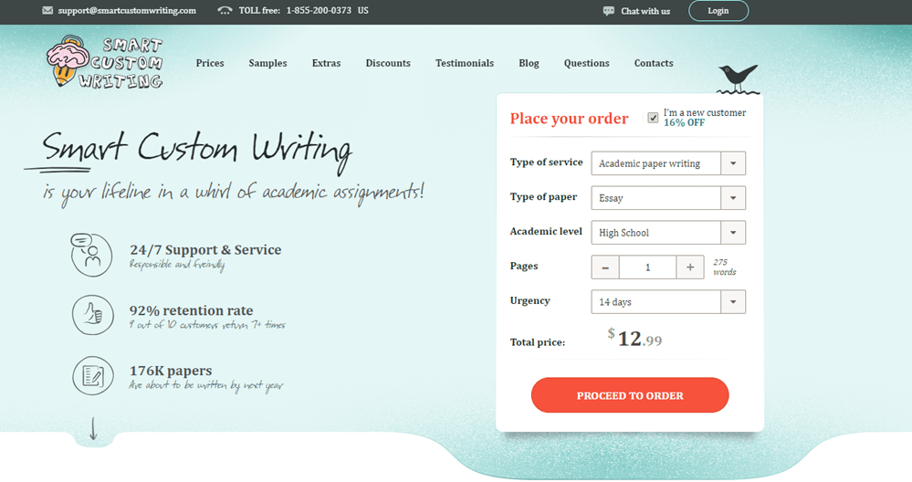 Smart Custom Writing the best essay writing service